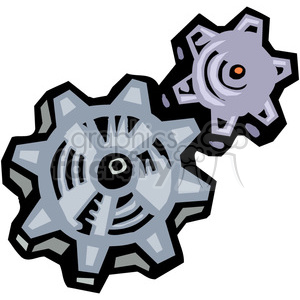 cartoon cogs clipart. Royalty-free image # 384901