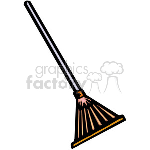 cartoon rake clipart. Royalty-free image # 384921
