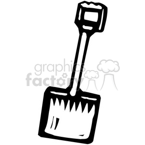 black and white shovel clipart. Royalty-free image # 384941