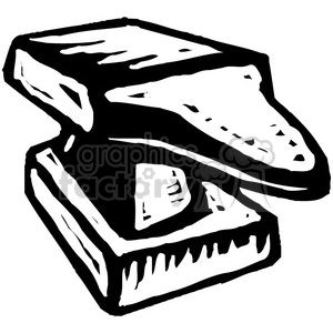 black and white anvil clipart. Commercial use image # 384961