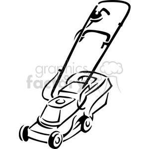black and white lawnmower clipart. Commercial use image # 384981