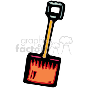 cartoon shovel clipart. Commercial use image # 384991
