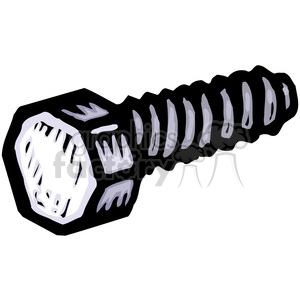 vector tools hardware cartoon bolt