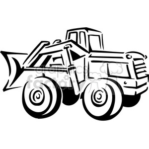black and white front end loader clipart. Royalty-free image # 385011