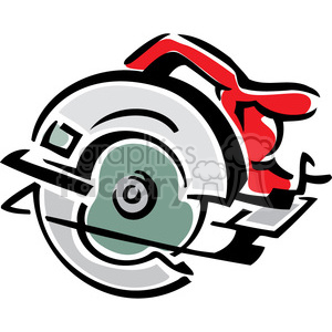 circular saw clipart. Royalty-free image # 385021