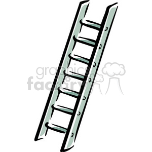 vector tools hardware cartoon ladder