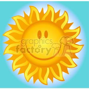12891 RF Clipart Illustration Smiling Sun clipart. Royalty-free image # 385091