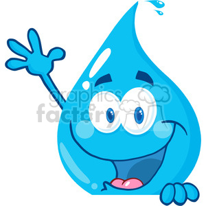 cartoon vector illustration water drop liquid character peak sneaky hi