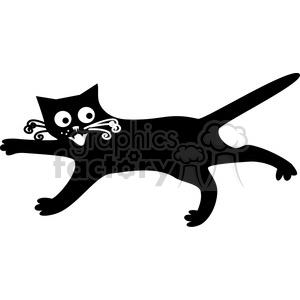 vector clip art illustration of black cat 036 clipart. Commercial use image # 385321
