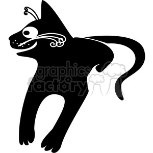 vector clip art illustration of black cat 053 clipart. Royalty-free image # 385331
