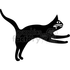 vector clip art illustration of black cat 030 clipart. Commercial use image # 385391