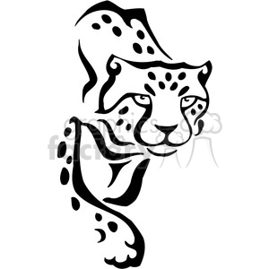 wild leopard 067 clipart. Commercial use image # 385421