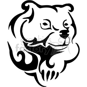 vector black+white animals wild outline vinyl-ready bear grizzly tattoo