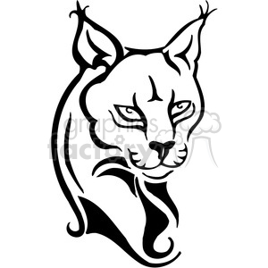 vector black+white animals wild outline vinyl-ready lynx cat tattoo