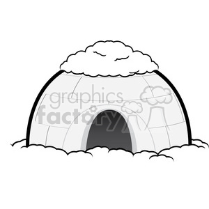 vector igloo 001 clipart. Royalty-free image # 385511