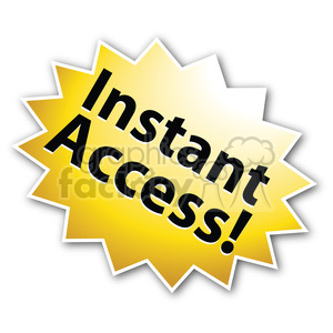 instant access star burst icon right clipart. Royalty-free image # 385571