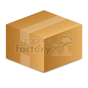 closed moving box clipart. Royalty-free image # 385581