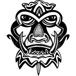 ancient tiki face masks clip art 004 clipart. Royalty-free image # 385818