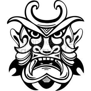 ancient tiki face masks clip art 006 clipart. Royalty-free image # 385836