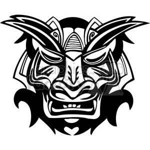 ancient tiki face masks clip art 010