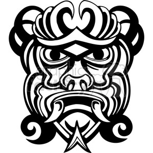 ancient tiki face masks clip art 017 clipart. Royalty-free image # 385855