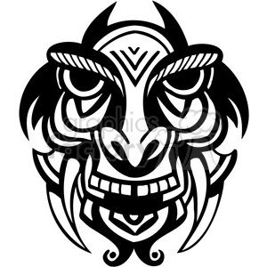 ancient tiki face masks clip art 050