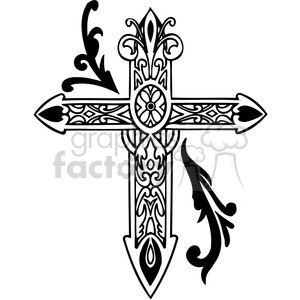 Celtic cross clip art tattoo illustrations 009 clipart. Royalty-free image # 385882