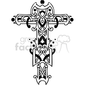 cross clip art tattoo illustrations 040 clipart. Royalty-free image # 385892