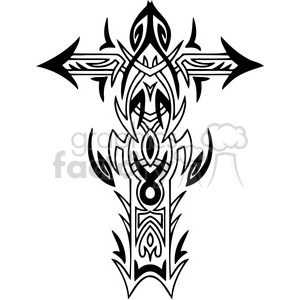 cross clip art tattoo illustrations 038 clipart. Royalty-free image # 385902