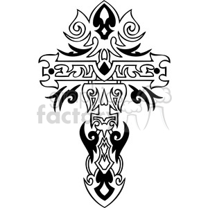 cross clip art tattoo illustrations 032 clipart. Royalty-free image # 385912