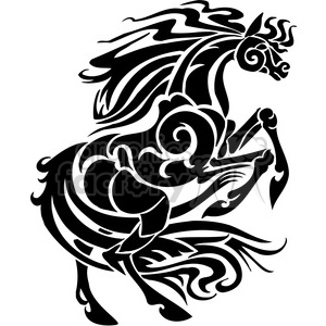 stallion horse design clipart. Royalty-free image # 385924