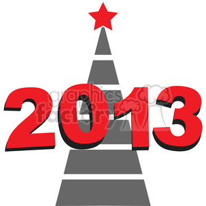 2013 New Year tree clipart. Royalty-free image # 385974