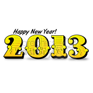2013 Happy New Years 002 clipart. Royalty-free image # 385984