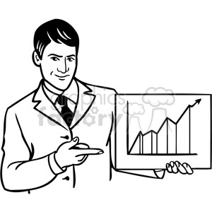 office business man chart 036 clipart. Commercial use image # 386046
