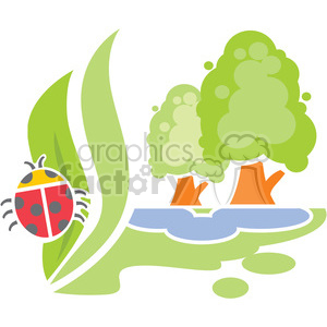 eco environment illustration logo symbols elements earth weather spring bugs nature
