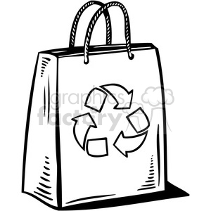 eco recycled bag 087 clipart. Royalty-free image # 386086