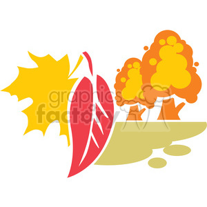 fall scene 007 clipart. Royalty-free image # 386096