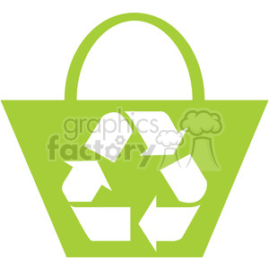 recycled bag 046 clipart. Royalty-free image # 386106