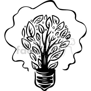 eco sustainable light bulb 054 clipart. Royalty-free image # 386116