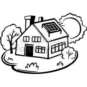 eco solar power equals sustainability clipart. Royalty-free image # 386136