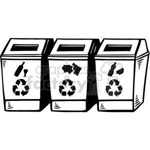 eco recycle bins clipart. Commercial use image # 386186