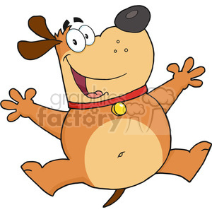 5230-Happy-Fat-Dog-Jumping-Royalty-Free-RF-Clipart-Image clipart. Royalty-free image # 386215