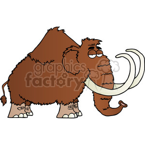 5109-Mammoth-Cartoon-Character-Royalty-Free-RF-Clipart-Image clipart. Royalty-free image # 386225