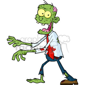 5076-Cartoon-Zombie-Walking-With-Hands-In-Front-Royalty-Free-RF-Clipart-Image clipart. Royalty-free image # 386315