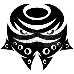 tribal masks vinyl ready art 033 clipart. Royalty-free image # 386385
