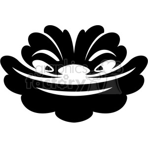 tribal masks vinyl ready art 019 clipart. Commercial use image # 386405