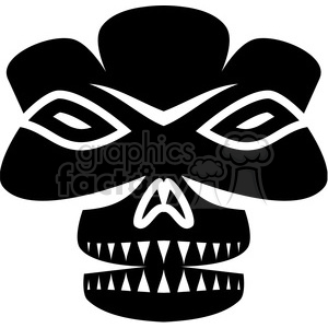 tribal masks vinyl ready art 029 clipart. Royalty-free image # 386415
