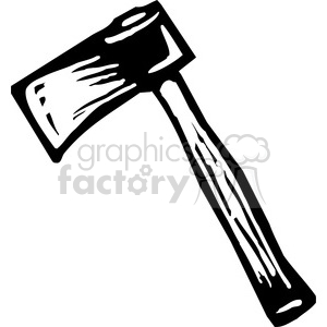 black and white axe clipart. Royalty-free image # 173687