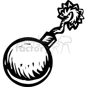 cartoon bomb with wick clipart. Commercial use image # 173695