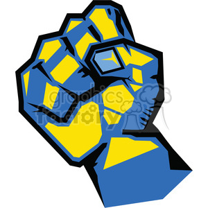fist rebellion uprising resistance illustration art blue clipart. Royalty-free image # 386461